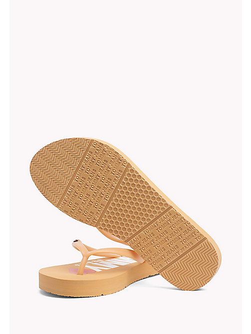 TOMMY HILFIGER Love Tommy Jeans Flip-Flops - GOLD EARTH - TOMMY JEANS Shoes - detail image 1