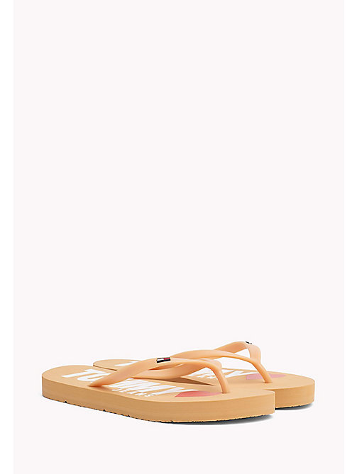 TOMMY HILFIGER Love Tommy Jeans Flip-Flops - GOLD EARTH - TOMMY JEANS Shoes - main image
