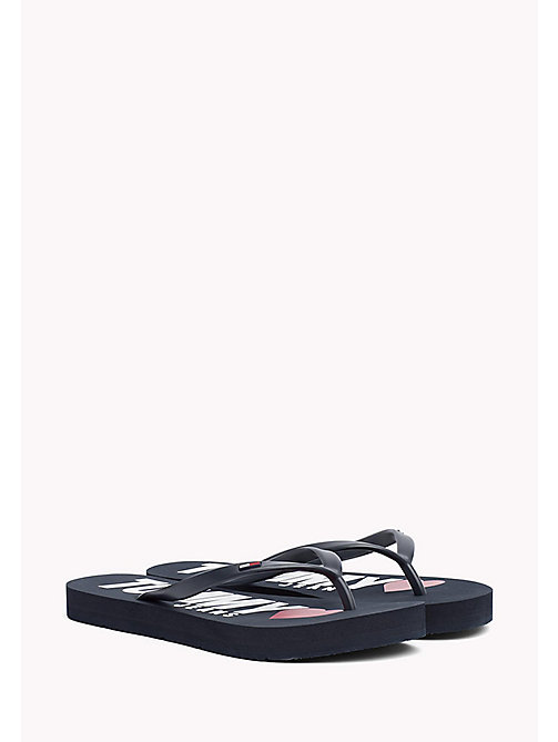 TOMMY JEANS Love Tommy Jeans Flip-Flops - TOMMY NAVY - TOMMY JEANS VACATION FOR HER - main image
