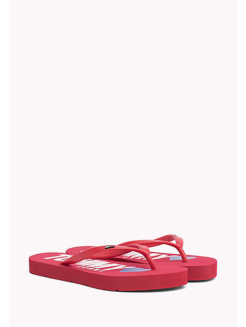 TOMMY JEANS Tongs Love Tommy Jeans - TANGO RED - TOMMY JEANS Chaussures - image principale