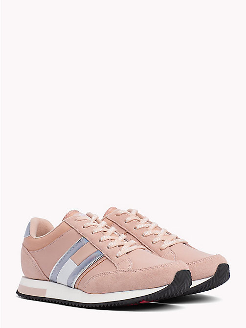 TOMMY JEANS Metallic Accent Trainers - MAHOGANY ROSE - TOMMY JEANS Shoes & Accessories - main image