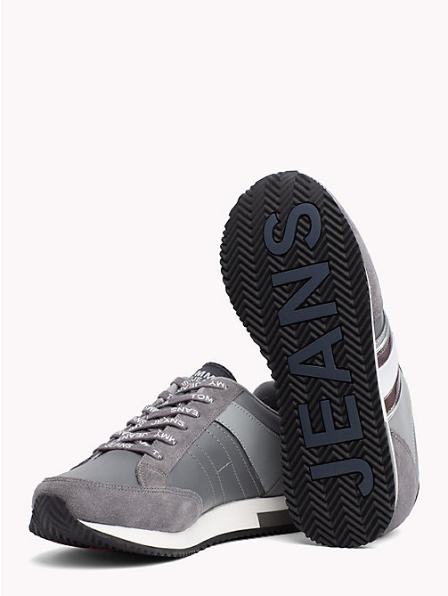 TOMMY JEANS Metallic Accent Trainers - STEEL GRAY - LIGHT GREY - TOMMY JEANS Shoes & Accessories - detail image 1
