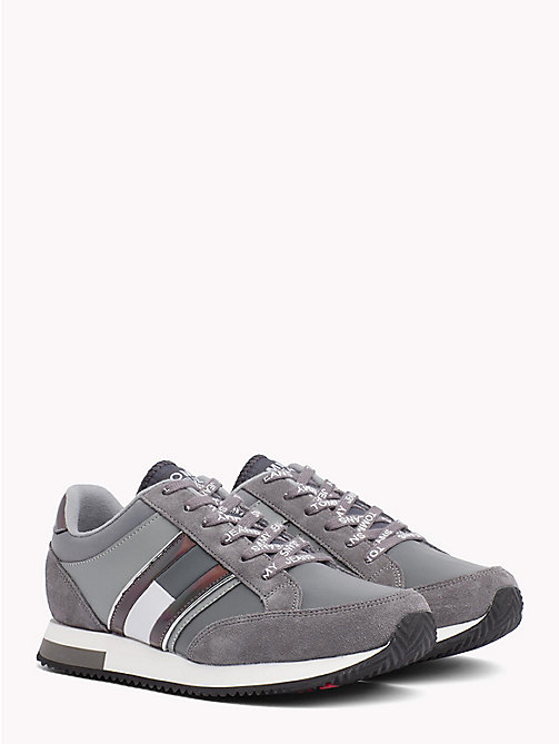 TOMMY JEANS Metallic Accent Trainers - STEEL GRAY - LIGHT GREY - TOMMY JEANS Shoes & Accessories - main image