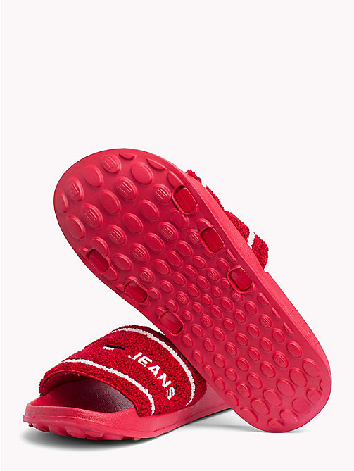 TOMMY JEANS Embroidered Terry Beach Sliders - TOMMY RED - TOMMY JEANS TOMMY JEANS - detail image 1