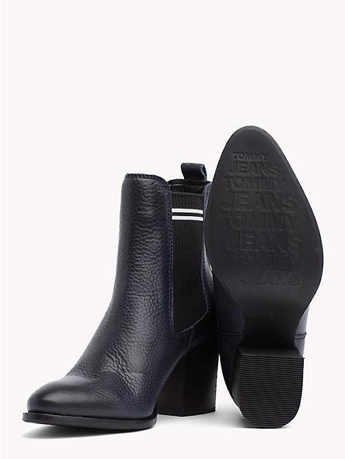 TOMMY JEANS Stripe High Heel Chelsea Boots - MIDNIGHT - TOMMY JEANS Shoes & Accessories - detail image 1