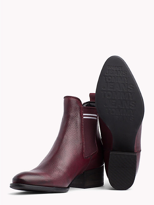 TOMMY JEANS Contrast Stripe Chelsea Boots - DECADENT CHOCOLATE - TOMMY JEANS Shoes - detail image 1