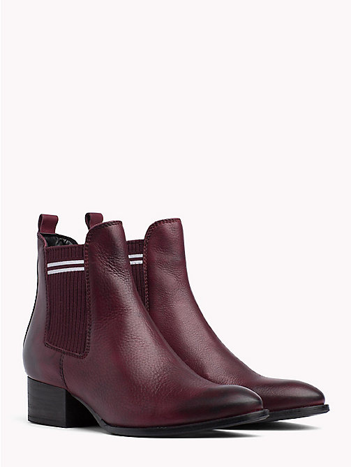 TOMMY JEANS Contrast Stripe Chelsea Boots - DECADENT CHOCOLATE - TOMMY JEANS Shoes - main image