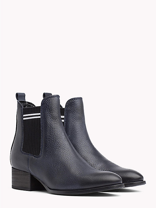 TOMMY JEANS Contrast Stripe Chelsea Boots - MIDNIGHT - TOMMY JEANS Shoes & Accessories - main image