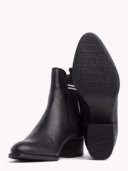 TOMMY JEANS Contrast Stripe Chelsea Boots - BLACK - TOMMY JEANS Shoes & Accessories - detail image 1