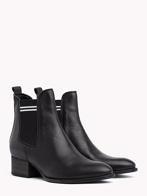 TOMMY JEANS Contrast Stripe Chelsea Boots - BLACK - TOMMY JEANS Shoes & Accessories - main image