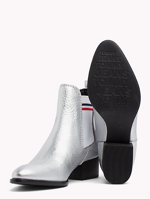 TOMMY JEANS Metallic Low Heel Chelsea Boots - SILVER - TOMMY JEANS VACATION - detail image 1