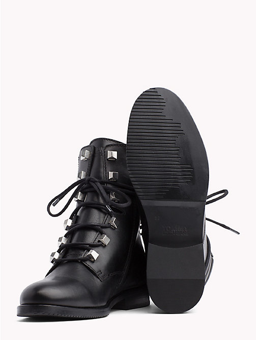 TOMMY JEANS Stud Lace-Up Boots - BLACK - TOMMY JEANS Shoes & Accessories - detail image 1