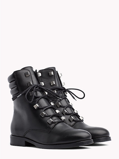 TOMMY JEANS Stud Lace-Up Boots - BLACK - TOMMY JEANS Shoes - main image