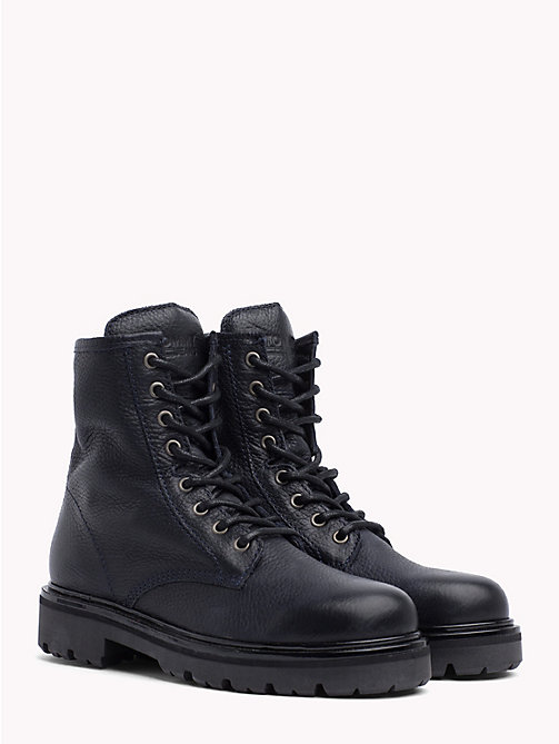 TOMMY JEANS BIG FLAG LACE UP BOOT - BLACK - TOMMY JEANS Shoes & Accessories - main image