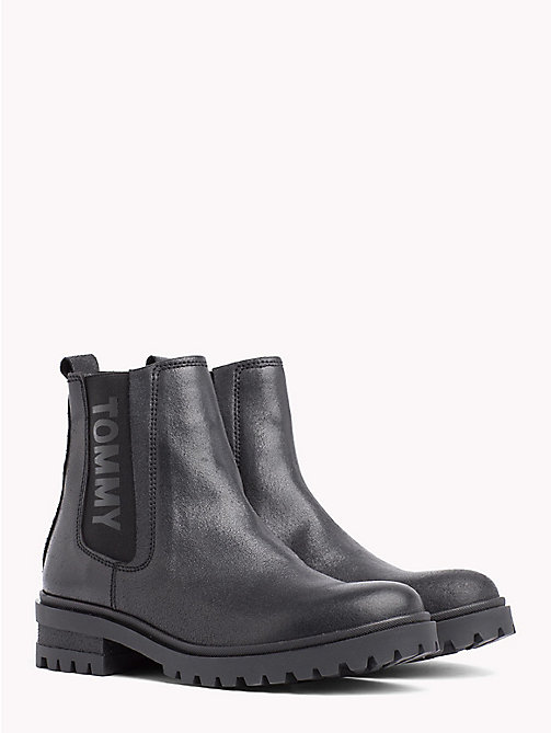 TOMMY JEANS METALLIC CLEATED CHELSEA BOOT - BLACK - TOMMY JEANS Shoes & Accessories - main image