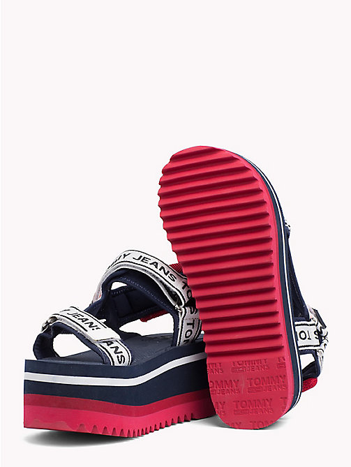 TOMMY JEANS Signature Tape Flatform Sandals - MIDNIGHT - TOMMY JEANS Festivals Season - detail image 1