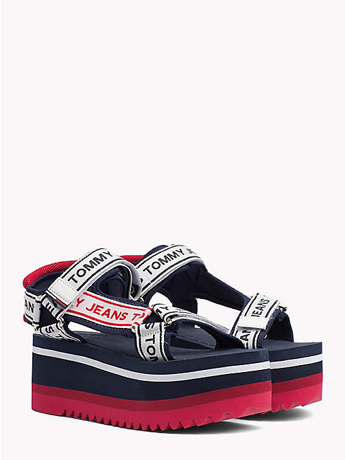 TOMMY JEANS Signature Tape Flatform Sandals - MIDNIGHT - TOMMY JEANS Festivals Season - main image