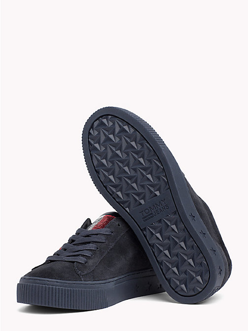 TOMMY JEANS Sequin Flag Trainers - MIDNIGHT -  Shoes & Accessories - detail image 1