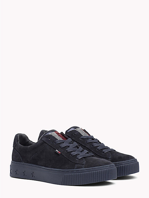 TOMMY JEANS Sequin Flag Trainers - MIDNIGHT - TOMMY JEANS Shoes - main image
