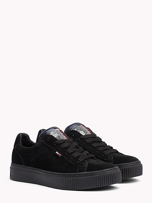 TOMMY JEANS Sequin Flag Trainers - BLACK - TOMMY JEANS Shoes & Accessories - main image