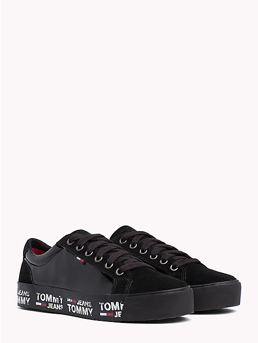 TOMMY JEANS Logo City Trainers - BLACK - TOMMY JEANS Shoes & Accessories - main image