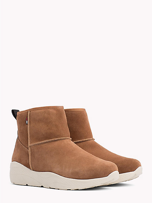 TOMMY JEANS Flatform Suede Ankle Boots - WINTER COGNAC - TOMMY JEANS Shoes & Accessories - main image