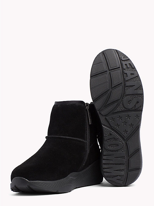 TOMMY JEANS Flatform Suede Ankle Boots - BLACK - TOMMY JEANS Shoes & Accessories - detail image 1
