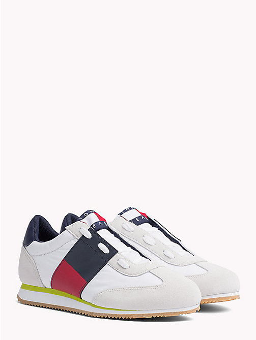 TOMMY JEANS Baskets en daim 90s - BRIGHT WHITE - TOMMY JEANS Capsule - image principale