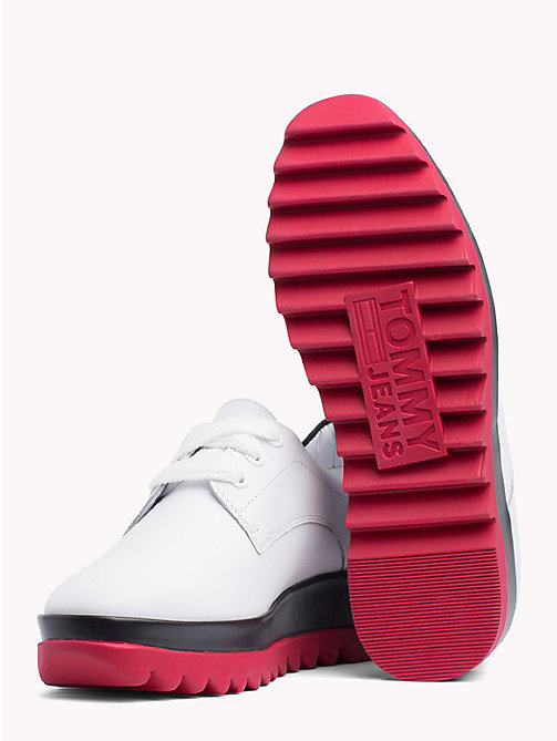 TOMMY JEANS Colour-Blocked Flatform Shoes - WHITE - TOMMY JEANS VACATION - detail image 1