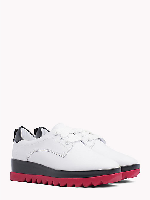 TOMMY JEANS Colour-Blocked Flatform Shoes - WHITE - TOMMY JEANS VACATION - main image