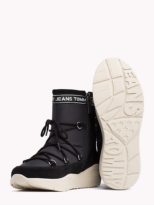 TOMMY JEANS Lace-Up Hiking Boots - BLACK - TOMMY JEANS Shoes & Accessories - detail image 1