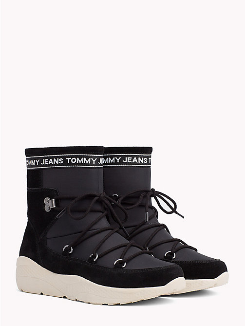 TOMMY JEANS Lace-Up Hiking Boots - BLACK - TOMMY JEANS Shoes & Accessories - main image