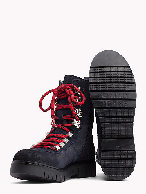 TOMMY JEANS Tommy Jeans Lace-Up Hiking Boots - MIDNIGHT - TOMMY JEANS Shoes & Accessories - detail image 1