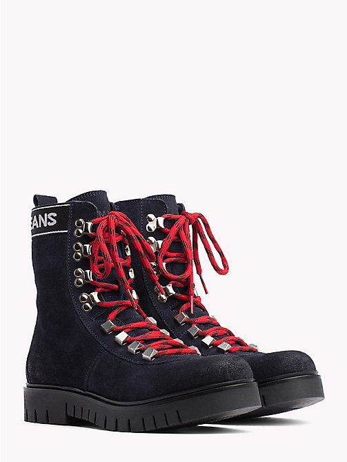 TOMMY JEANS Tommy Jeans Lace-Up Hiking Boots - MIDNIGHT - TOMMY JEANS Shoes & Accessories - main image
