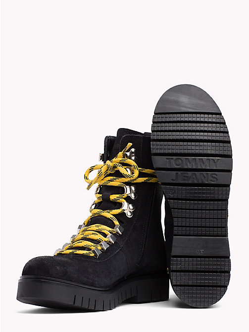 TOMMY JEANS Tommy Jeans Lace-Up Hiking Boots - BLACK - TOMMY JEANS Shoes & Accessories - detail image 1