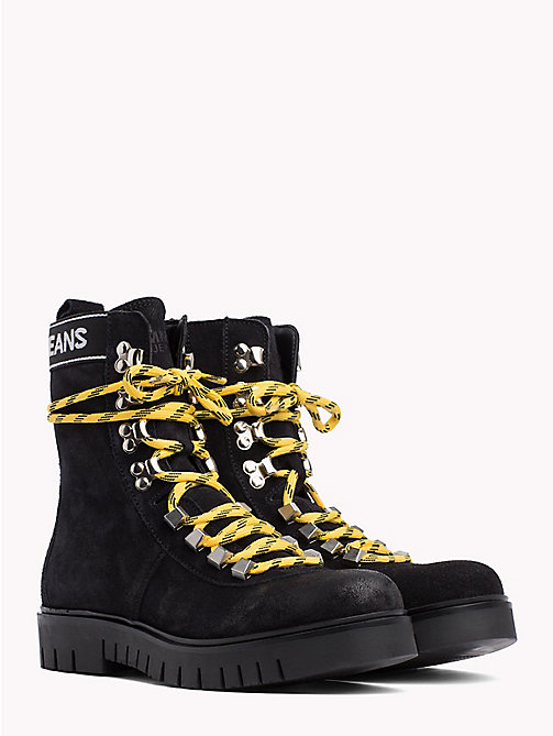 TOMMY JEANS Tommy Jeans Lace-Up Hiking Boots - BLACK - TOMMY JEANS SALE IRE - main image