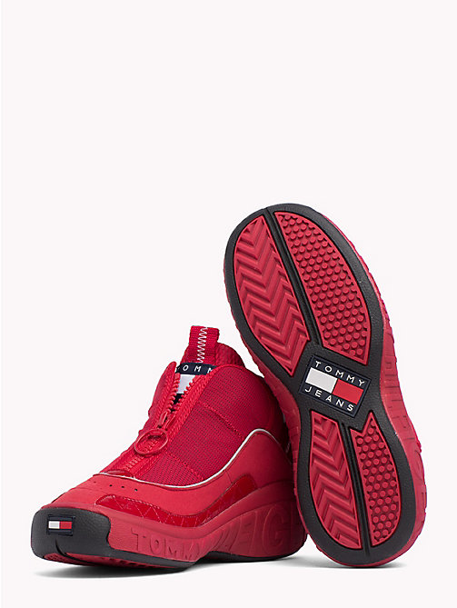 TOMMY JEANS Tommy Jeans Zip Trainers - TANGO RED - TOMMY JEANS Shoes & Accessories - detail image 1