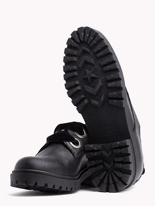 TOMMY JEANS Metallic Cleated Lace-Up Shoes - BLACK - TOMMY JEANS Shoes - detail image 1