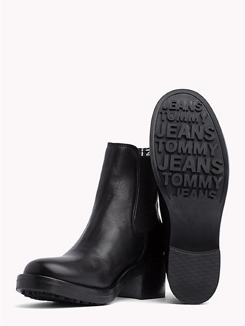 TOMMY JEANS Heeled Biker Boots - BLACK - TOMMY JEANS Shoes & Accessories - detail image 1