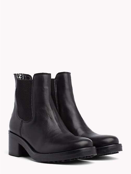 TOMMY JEANS Heeled Biker Boots - BLACK - TOMMY JEANS Shoes & Accessories - main image