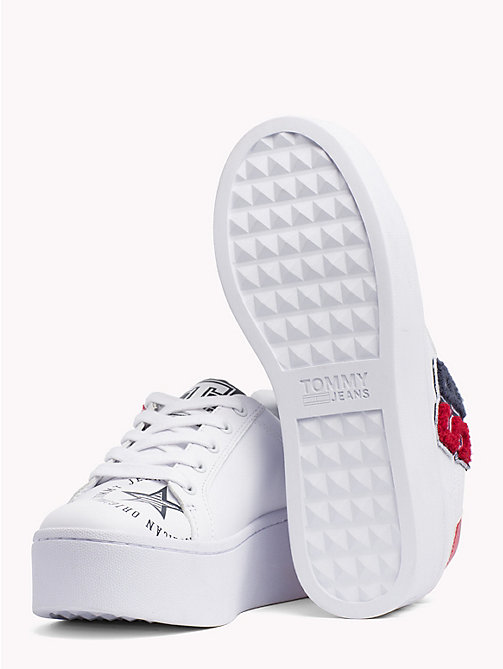 TOMMY JEANS Vintage Leather Trainers - WHITE - TOMMY JEANS What to wear - detail image 1