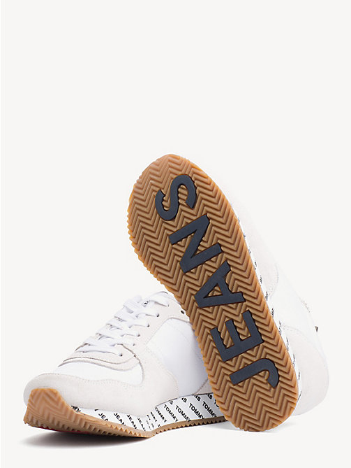 TOMMY JEANS Suede Mix Contrast Panel Trainers - WHITE - TOMMY JEANS NEW IN - detail image 1