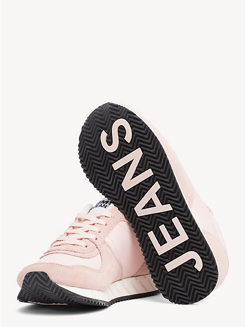 TOMMY JEANS Suede Mix Contrast Panel Trainers - SILVER PEONY - TOMMY JEANS NEW IN - detail image 1