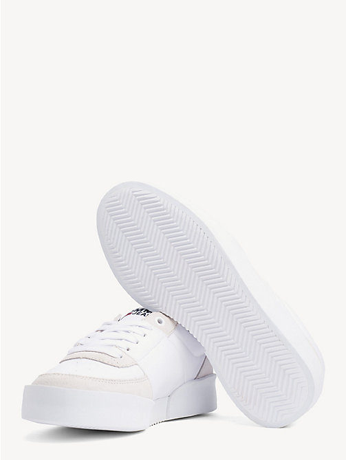 TOMMY JEANS Lightweight Contrast Panel Trainers - WHITE - TOMMY JEANS Shoes & Accessories - detail image 1