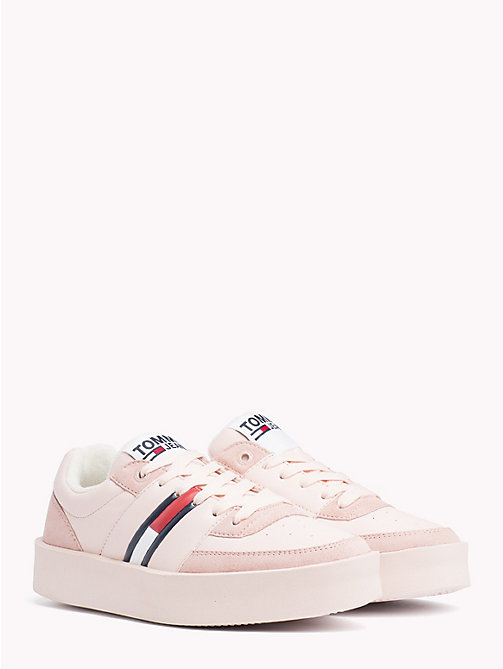 TOMMY JEANS Lightweight Contrast Panel Trainers - SILVER PEONY - TOMMY JEANS Shoes & Accessories - main image