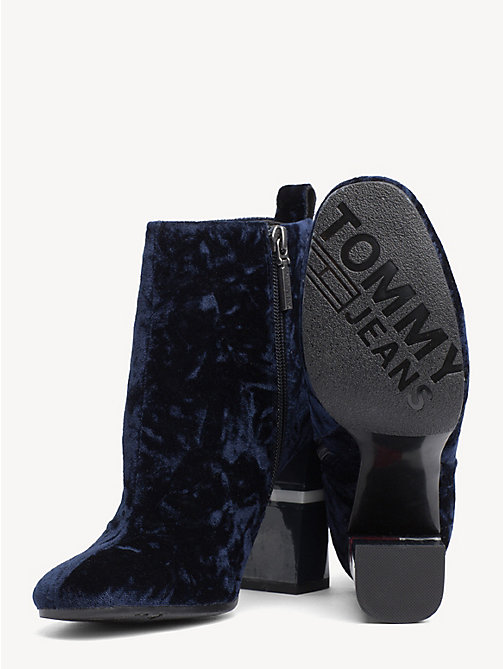 TOMMY JEANS Crushed Velvet Ankle Boots - MIDNIGHT - TOMMY JEANS Party Looks - detail image 1