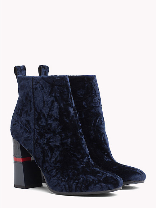 TOMMY JEANS Crushed Velvet Ankle Boots - MIDNIGHT - TOMMY JEANS Party Looks - main image