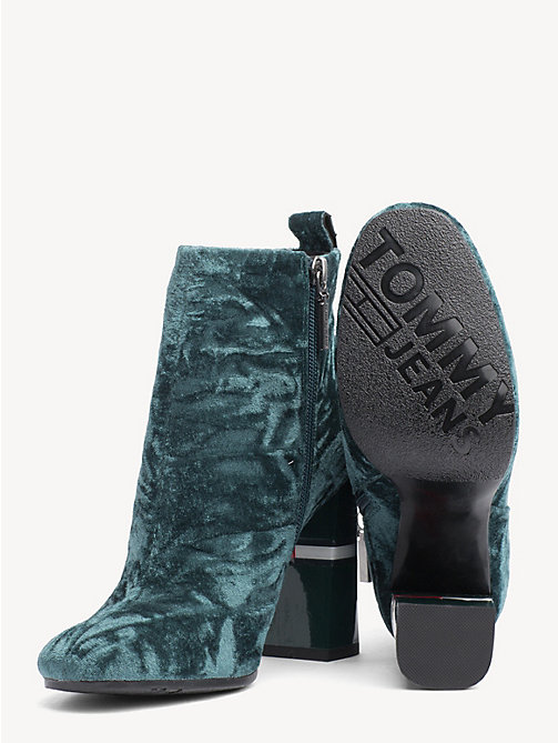 TOMMY JEANS Crushed Velvet Ankle Boots - GREEN GABLES - TOMMY JEANS Shoes & Accessories - detail image 1