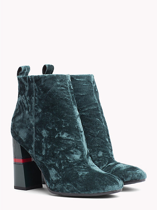 TOMMY JEANS Crushed Velvet Ankle Boots - GREEN GABLES - TOMMY JEANS Shoes & Accessories - main image