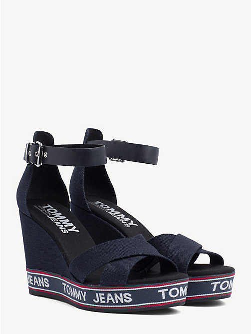 TOMMY JEANS Tommy Jeans Logo Wedges - MIDNIGHT - TOMMY JEANS Wedges - main image